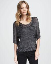 Vince Metallic Sweater - Lyst
