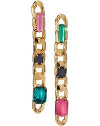 Asos Gem Chain Drop Earrings - Lyst