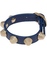 Balenciaga Balenciaga Giant Gold Bracelet Stud Bleu Mineral - Lyst