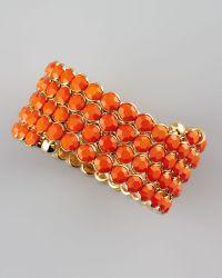 Cara Crystal Spiral Bracelet - Orange