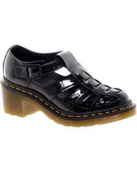 Dr. Martens Parade Eleanor T Bar Heeled Sandals - Black