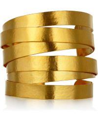 Herve Van Der Straeten - 24karat Goldplated Cuff - Lyst