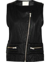 IRO Leather Vest - Black
