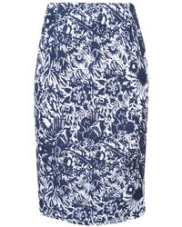 Suno Jacquard Pencil Skirt - Lyst