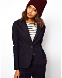 ASOS Collection Blazer in Indigo Tweed Denim - Lyst