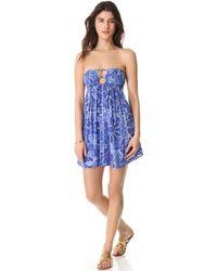 Indah Crochet Dress - Blue