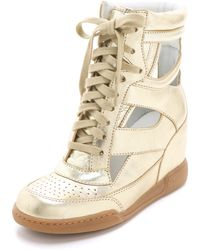 Marc By Marc Jacobs Metallic Cutout Sneaker Wedges - Lyst