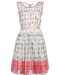 RED Valentino Dress with Full Skirt multicolor - Lyst