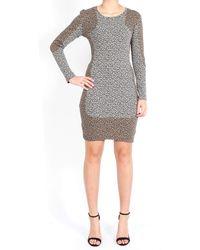 Sea Long Sleeve Leopard Combo Sheath Dress - Lyst