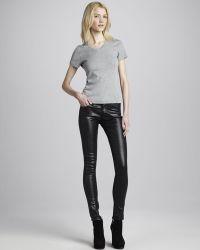 AG Adriano Goldschmied Faux-Leather Leggings black - Lyst