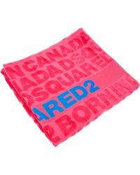 DSquared² Logo Beach Towel - Pink