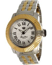 Glam Rock - Lady Sobe 40mm Two-tone Gold Plated Watch- Gr31015 - Lyst