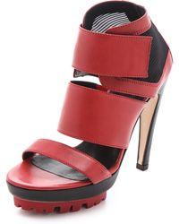 Vic Matie' Lug Sole Velcro Sandals - Lyst
