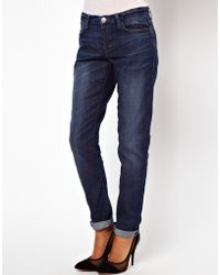 ASOS Collection In Dark Washed Indigo - Lyst