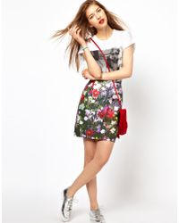 Paul by Paul Smith Pencil Skirt in Digital Floral Print - Multicolor