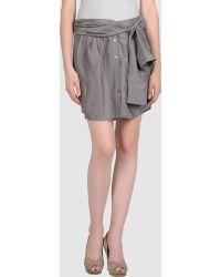 Theory Mini Skirt gray - Lyst