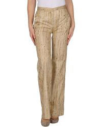 Genny Casual Trousers - Natural