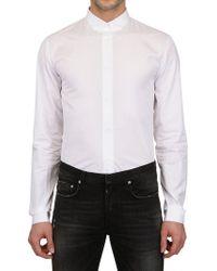 Dior Homme Cotton Poplin Shirt white - Lyst