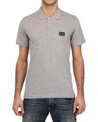 Dolce & Gabbana Piquet Polo Shirt - Lyst