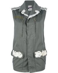 History Lace Trim Military Gilet - Lyst
