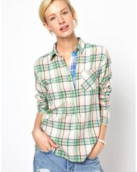 M.i.h Jeans Mih Pull On Check Shirt - Green