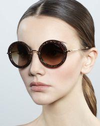 4f856ee9c01 Miu Miu - Oversize Circle Sunglasses - Lyst