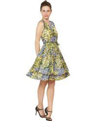 Morine Comte Marant - Flower Print Crepe De Chine Dress - Lyst
