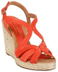 Palomitas By Paloma Barcelo' 110mm Suede Rope Sandal Wedges - Lyst