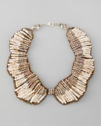 Panacea Beaded Crystal Necklace - Lyst