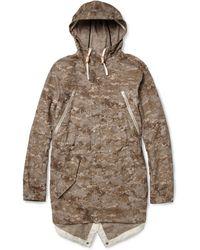 Woolrich Camouflageprint Ripstop Cotton Lightweight Coat - Brown