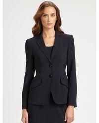 Armani Featherweight Wool Jacket blue - Lyst