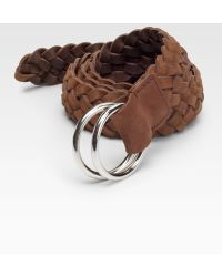 Brunello Cucinelli Braided Leather Belt - Lyst