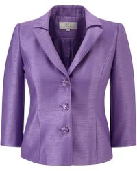 Cc Wisteria Pleated Shantung Jacket - Lyst