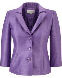 Cc Wisteria Pleated Shantung Jacket purple - Lyst