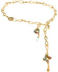 Christian Lacroix - Gold Tie Necklace - Lyst