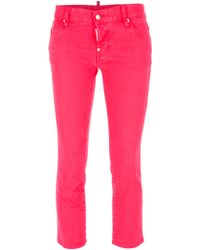 DSquared² Cropped Skinny Jean - Lyst