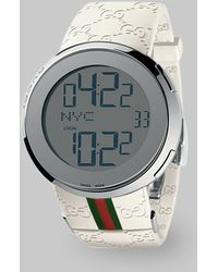 Gucci I- Collection White Digital Watch - Lyst