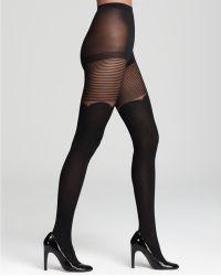 Kate Spade Pretty Sheer Stripe Tights - Black