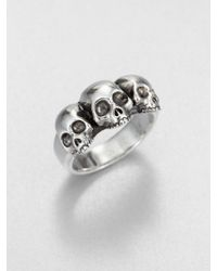 King Baby Studio - Triple Skull Ring - Lyst