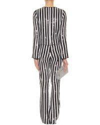 Marc Jacobs Sequin Striped Jumpsuit - Black
