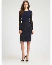 Sachin & Babi Lacey Ostrich Feather Skirt - Lyst