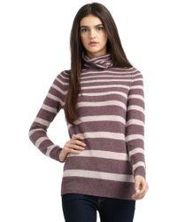 Vkoo - Striped Cashmere Turtleneck Sweaterfig - Lyst