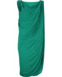Lanvin Vintage Asymmetric Dress - Lyst