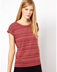 NW3 by Hobbs Nw3 Stitch Print Tee - Red