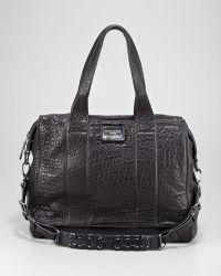 Olivia Harris Iggy Textured Satchel Bag - Black