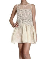 RED Valentino Lace Sleeveless Dress - Lyst