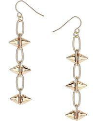Topshop Chain Spike Drop Earrings - Lyst