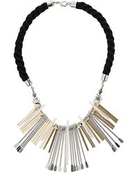 Topshop Rope and Shard Collar - Lyst