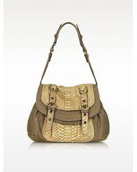 Abaco   Dana Python Leather Shoulder Bag   Lyst