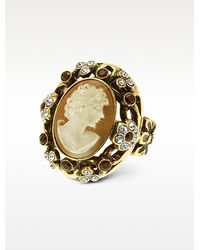 Alcozer & J Cameo and Crystal Ring - Lyst